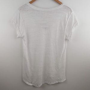 Free People Tops - NWT We the Free People White Sheer Destroyed Tee M